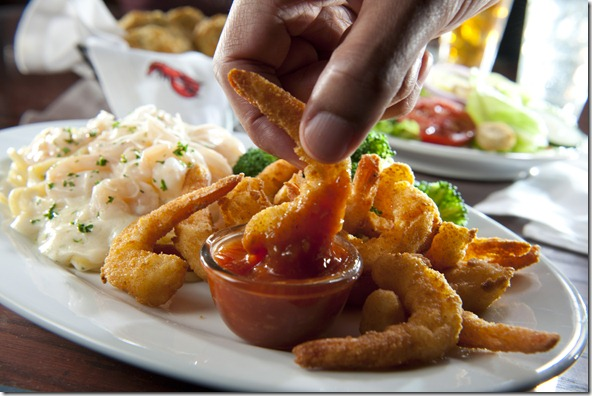 RL Hand-Breaded Shrimp & Shrimp Linguini Alfredo