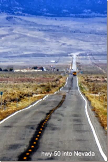 hwy 50 into Nevada