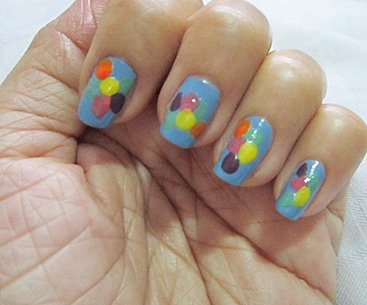 fun polka dot notd, bitsandtreats