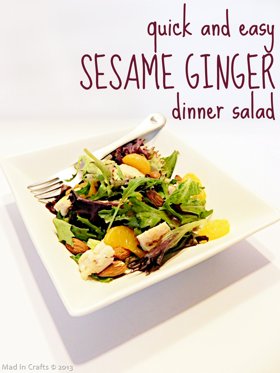 Sesame Ginger Dinner Salad