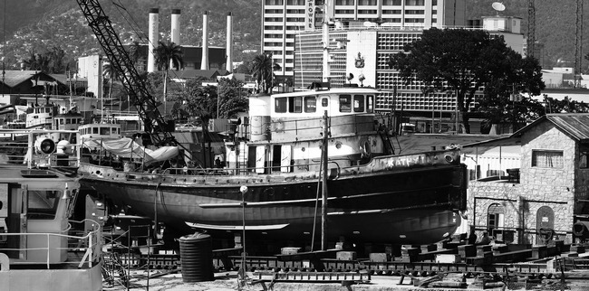 Tug on Marine Railway Trinidad