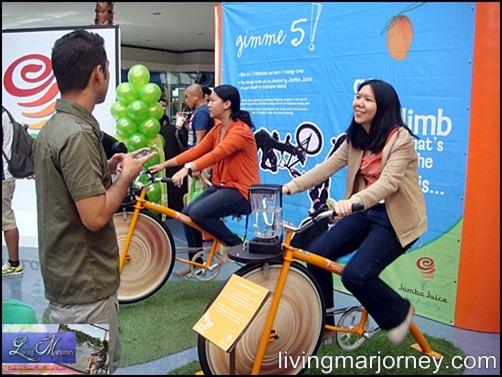 Ride the Jamba's in-store Blender Bike