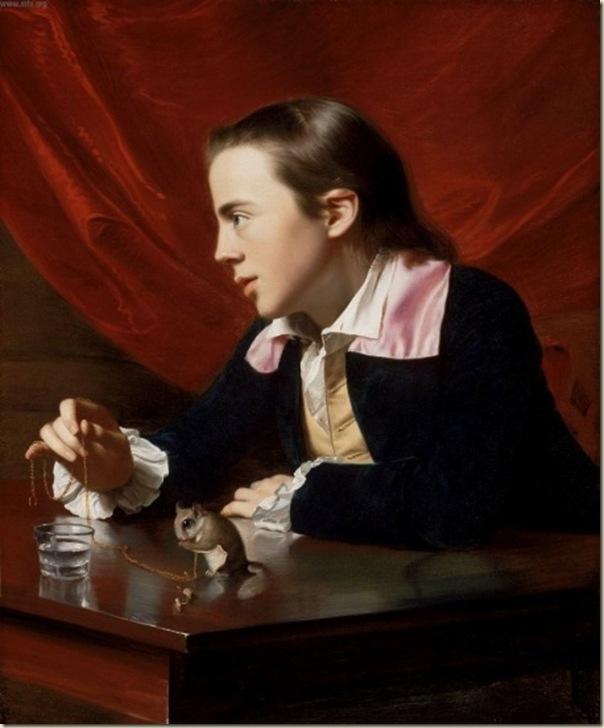 John Singleton Copley, Garçon à l'écureuil, 1765,