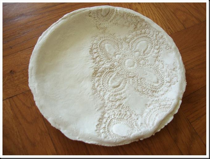 DIY clay plate