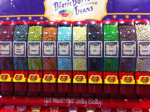 Jelly Belly's Bertie Botts jelly beans have made a comeback for the final Potter movie. We sampled tasty flavors like dirt, earthworm, soap and a disturbingly authentic handful of rotten egg.