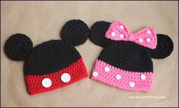 MickeyMinnieCrochetHats