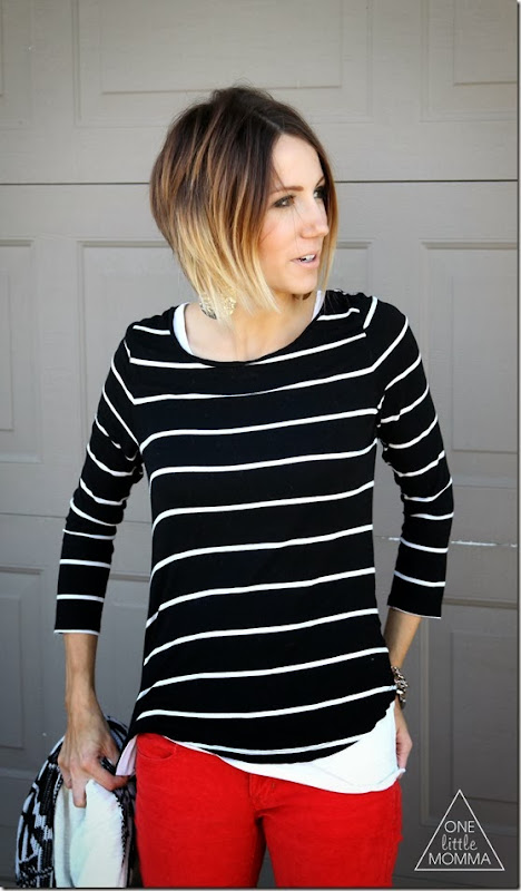 Stacked short ombre hair