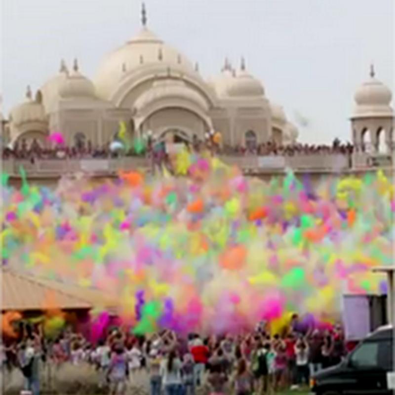 Así se celebra el festival del color