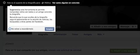 Cómo ver mi Facebook como si fuera otro usuario