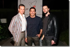 MIAMI BEACH, FL - DECEMBER 03:  (L-R) Alexander Werz, Dan Ragone, and Luis Monteagudo attend the Porsche Design x Thierry Noir Art Basel Miami Beach Event at The Temple House on December 3, 2013 in Miami Beach, Florida.  (Photo by Neilson Barnard/Getty Images for Porsche Design)