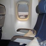 3 seats to myself on aircanada in Narita, Tokyo, Japan