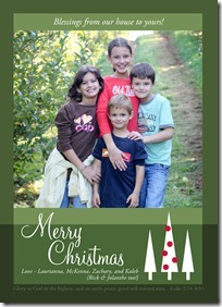 Little Card Company Christmas photo card
