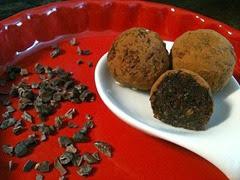truffes au fèves de cacao