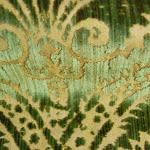 Tkanina obiciowa w stylu francuskim. Tekstura pluszowa. Bawełna, jedwab.