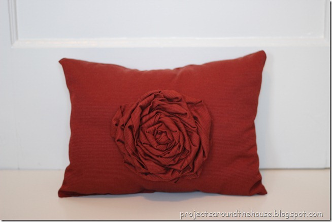 DIY Rosette Pillow