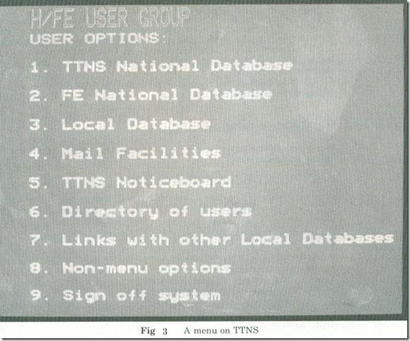 fig.3 A menu on TINS