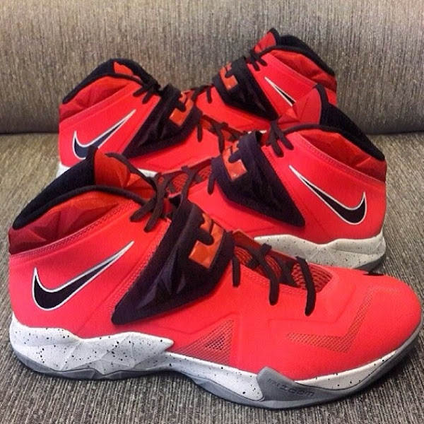 Nike Zoom LeBron Soldier VII 8211 Red  Black  Grey 8211 Playoffs