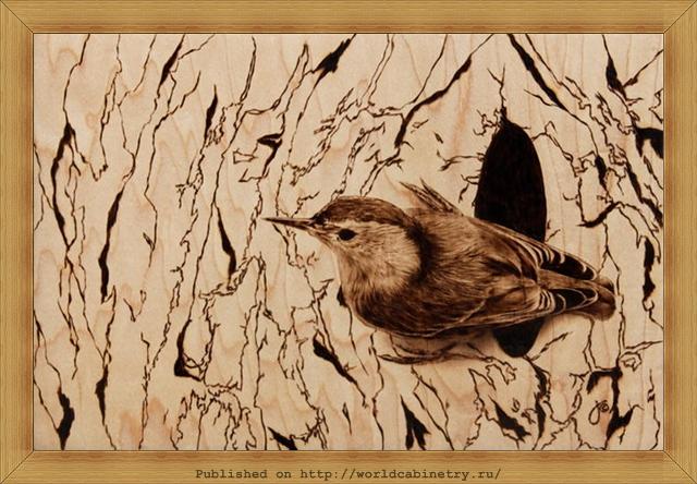 Пирография - выжигание по дереву.Работы Джули Бендер.