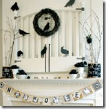 Halloween Mantel with Crows