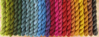 Ministränge Sockenwolle pflanzengefärbt