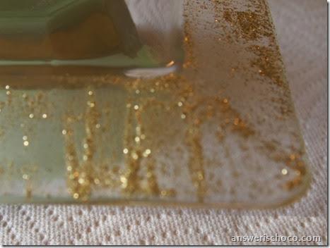 Hanukkah Plate Glitter