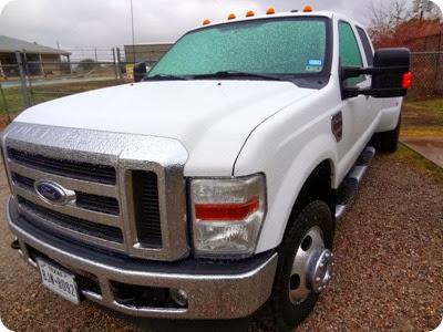 ice on truck