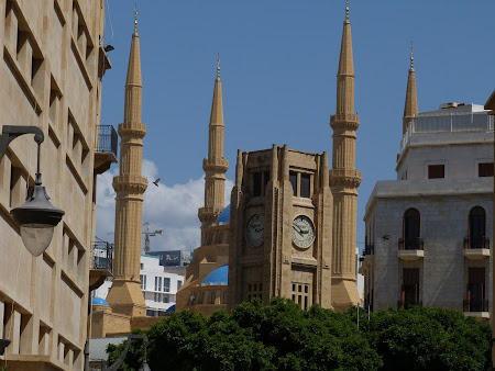 Obiective turistice Liban - Place d'Etoile si moscheea