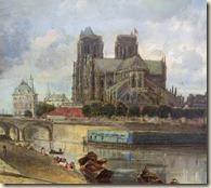 cathedrale Notre-Dame vers 1854 par Jongkind