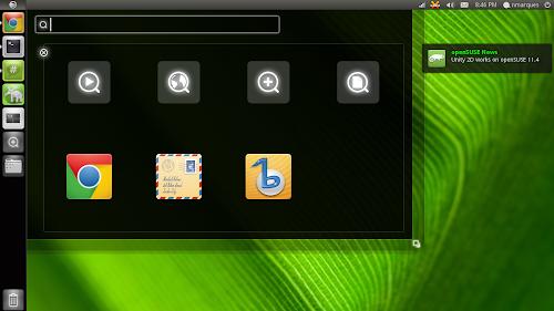 Unity su openSUSE