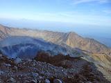 Fine early morning views from near Rinjani peak (Dan Quinn, November 2013)