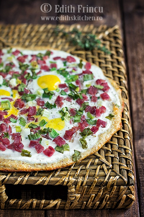 Pizza Dukan cu carne de vita