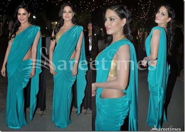 Green_Plain_Saree