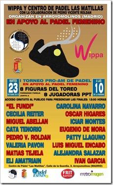 """PRO-AM que tendrá lugar en """"Las Matillas"""", en Arroyomolinos (Madrid). La fecha del PRO-AM es el 23 de Octubre (martes), por la mañana."""