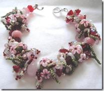 Red Pink Fringe Bracelet