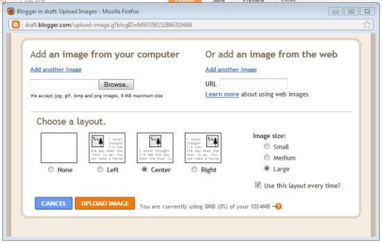 bandwidth--blogger image upload