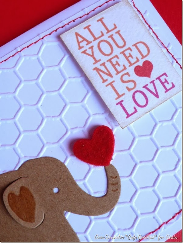 cafe creativo - Anna Draicchio - sizzix big shot - card elephant love (3)