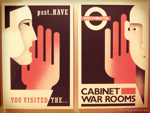 Love these posters of the Churchill War Rooms. It's a great museum if you're a history buff like me & my hubby. We're not pros but history never fails to fascinate us.