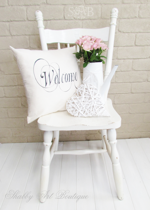 Shabby Art Boutique - welcome cushion 3