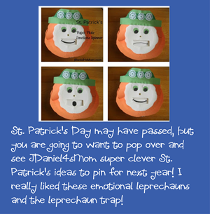 St. Patricks Day Emotional Leprechaun ideas