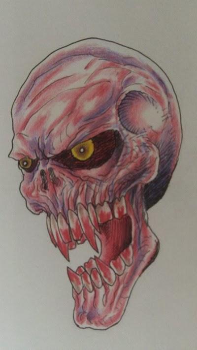 Vampire Skull Art