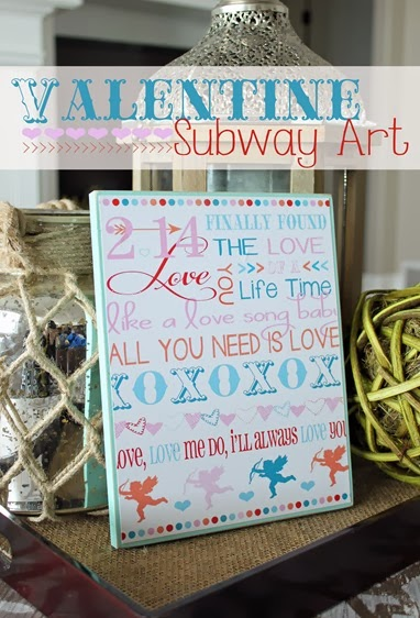 DIY Valentine Subway Art Plaque - The perfect quick, easy and affordable craft project.