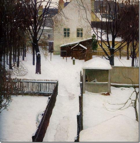 CarlMoll WinterSceneInHeiligenstadt 1906 NationalMuseumOfArt-Budapest