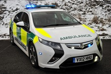 New Vauxhall Ampera Ambulance Service Vehicle trialled by Yorkshire Ambulance Service