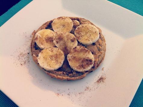 peanut butter banana waffle