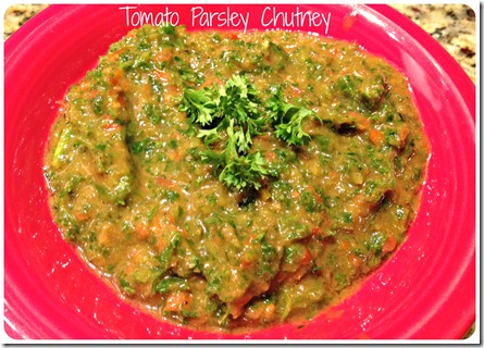 tomato parsley chutney