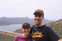 Kristy and Gerrod at Wineglass bay
