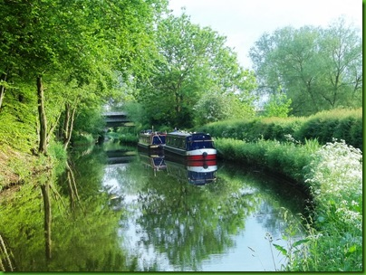 021-1  Moored at St Thomas Bridge, where the Stafford Coal Canal once joined the Staffs & Worcs