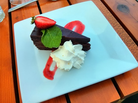Vanilla Pod: Flourless Chocolate Torte with Berry Coulis