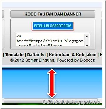 Ilustrasi Jarak Halaman Blog Dengan Tepian Browser