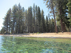 From Camp Richardson we rented kayaks to paddle to Emerald Bay